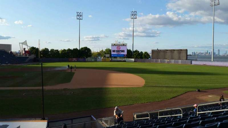 Seating view for Richmond County Bank Ballpark Section 13 Row P Seat 13