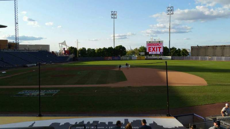 Seating view for Richmond County Bank Ballpark Section 13 Row P Seat 23