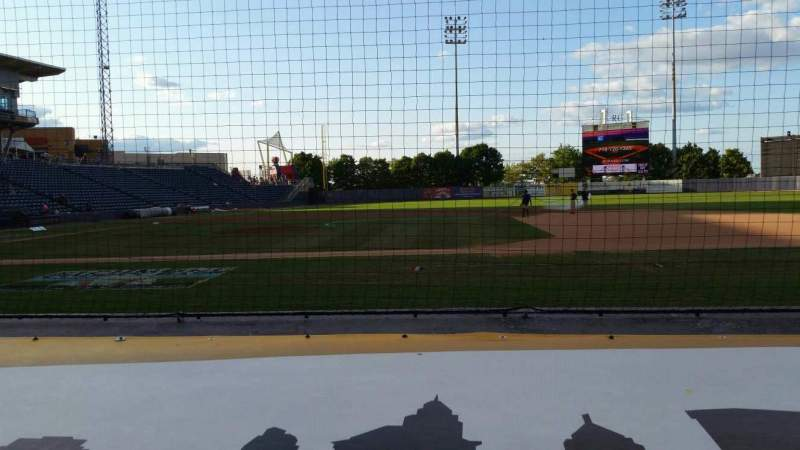 Seating view for Richmond County Bank Ballpark Section 12 Row D Seat 1
