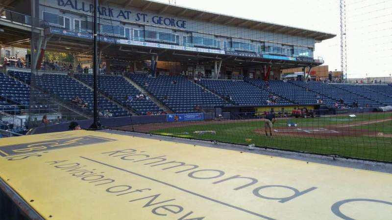 Seating view for Richmond County Bank Ballpark Section 12 Row D Seat 22