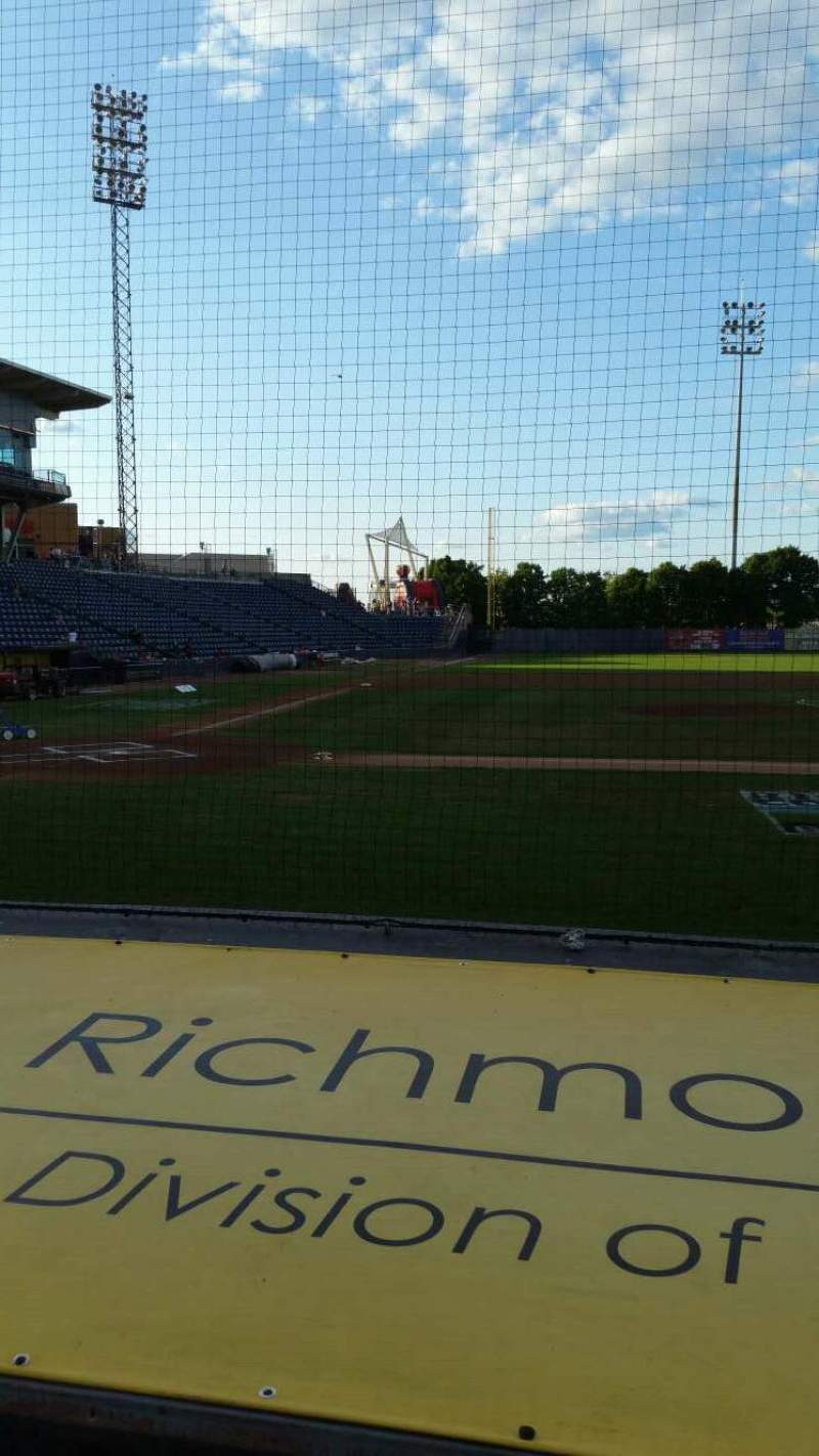 Seating view for Richmond County Bank Ballpark Section 11 Row E Seat 1
