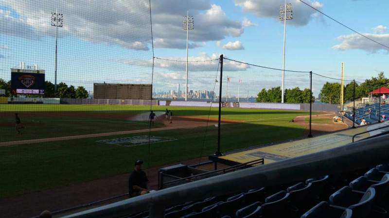 Seating view for Richmond County Bank Ballpark Section 10 Row H Seat 1