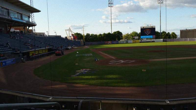 Seating view for Richmond County Bank Ballpark Section 10 Row H Seat 9