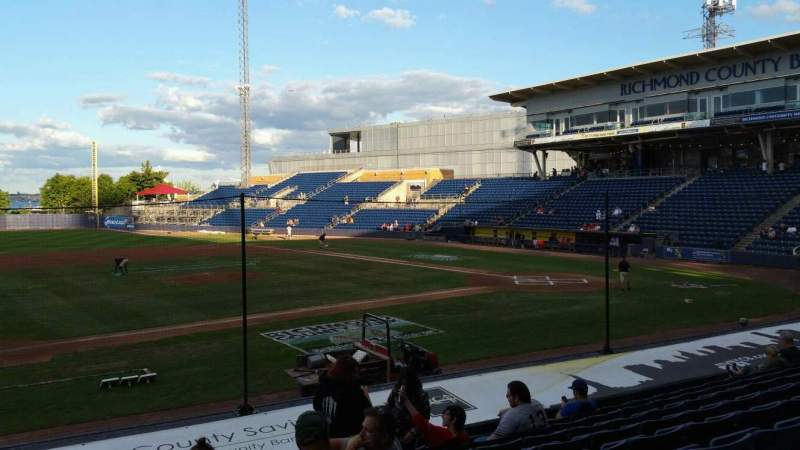 Seating view for Richmond County Bank Ballpark Section 6 Row M Seat 22