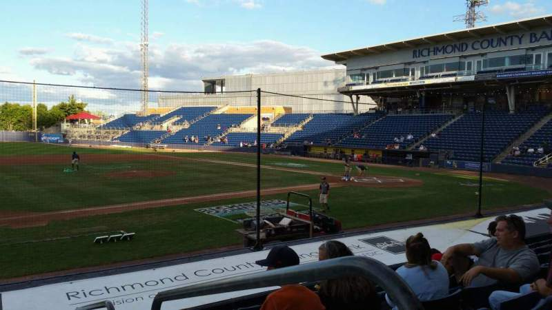 Seating view for Richmond County Bank Ballpark Section 5 Row K Seat 1