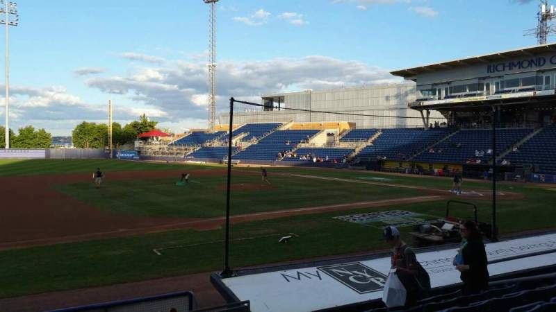 Seating view for Richmond County Bank Ballpark Section 5 Row K Seat 11