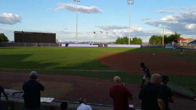 Seating view for Richmond County Bank Ballpark Section 4 Row F Seat 1