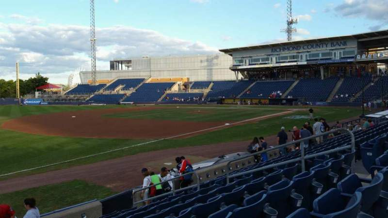Seating view for Richmond County Bank Ballpark Section 3 Row K Seat 11