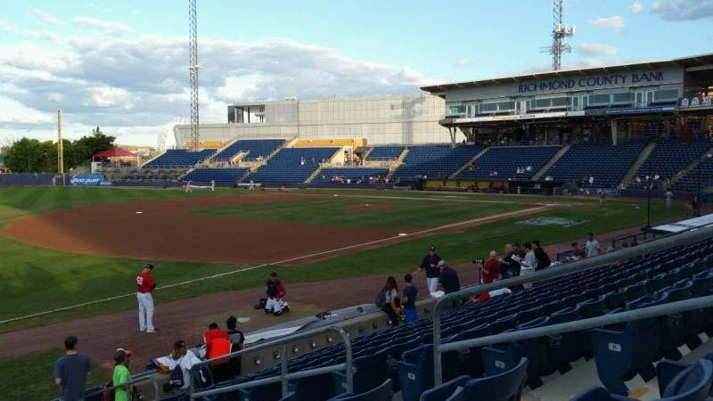 Seating view for Richmond County Bank Ballpark Section 3 Row M Seat 6