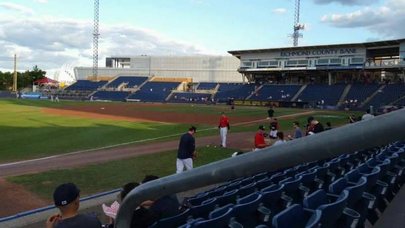 Seating view for Richmond County Bank Ballpark Section 2 Row F Seat 1