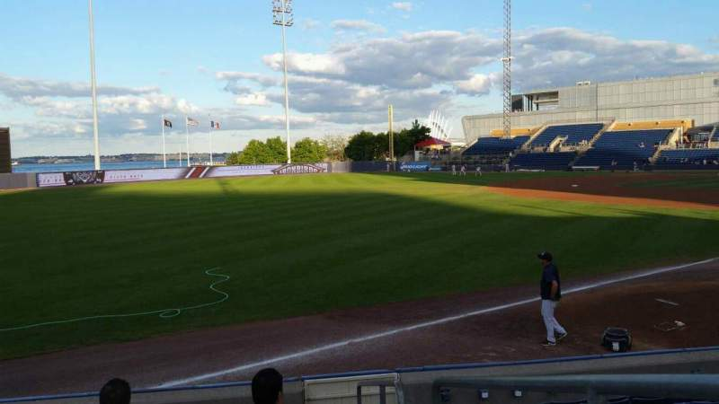 Seating view for Richmond County Bank Ballpark Section 1 Row J Seat 1