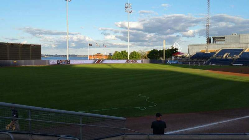 Seating view for Richmond County Bank Ballpark Section 1 Row J Seat 10