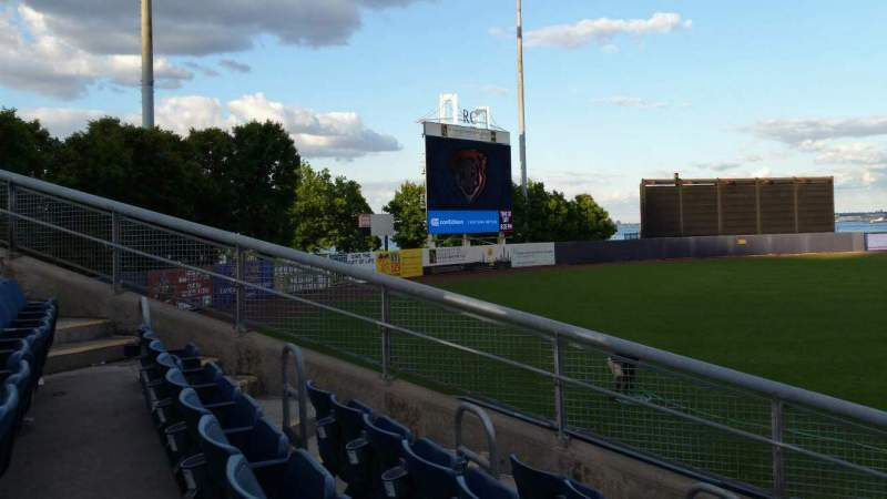 Seating view for Richmond County Bank Ballpark Section 1 Row J Seat 11