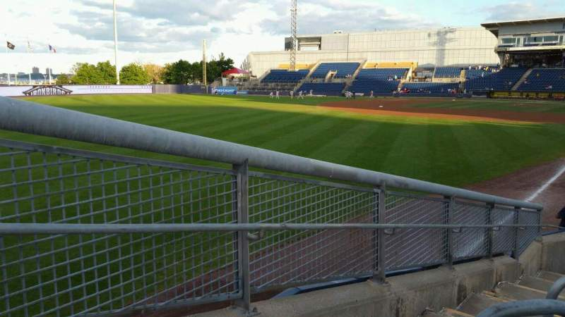 Seating view for Richmond County Bank Ballpark Section 1 Row J Seat 24