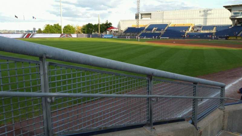 Seating view for Richmond County Bank Ballpark Section 1 Row F Seat 19