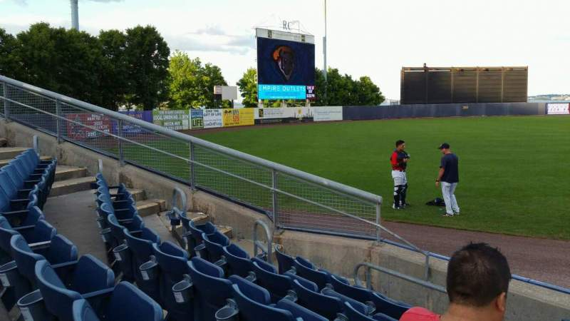 Seating view for Richmond County Bank Ballpark Section 1 Row F Seat 1