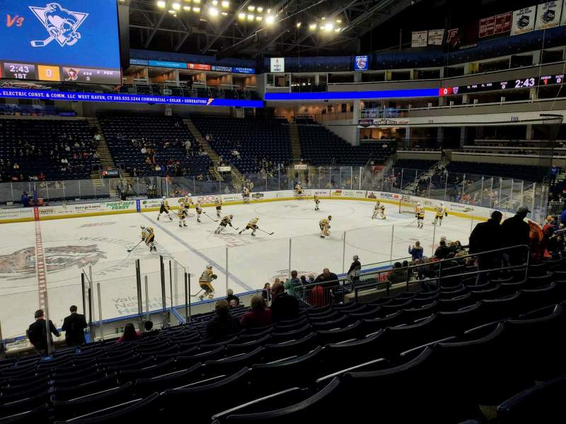 Seating view for Webster Bank Arena Section 105 Row N Seat 13