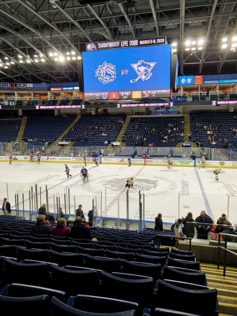 Seating view for Webster Bank Arena Section 105 Row N Seat 1