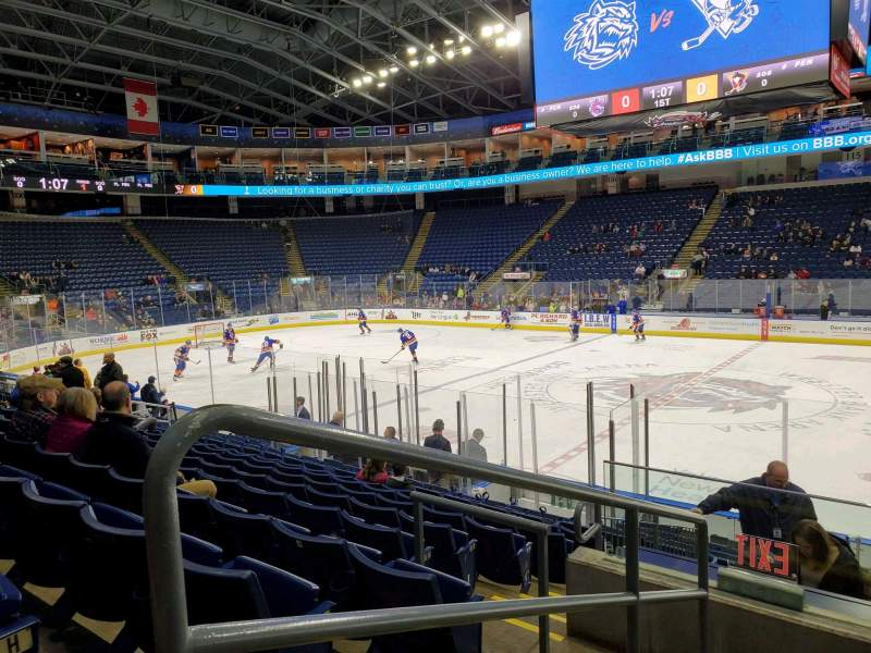 Seating view for Webster Bank Arena Section 106 Row J Seat 24