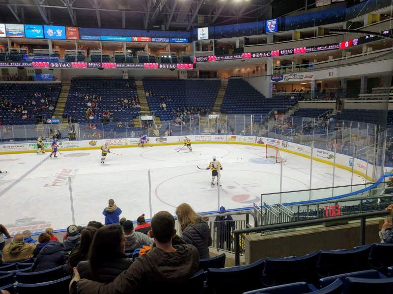 Seating view for Webster Bank Arena Section 106 Row J Seat 10