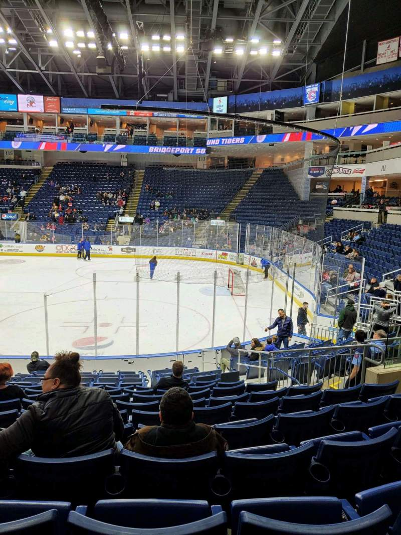 Seating view for Webster Bank Arena Section 107 Row K Seat 11