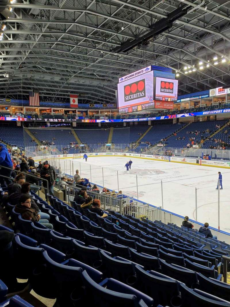 Seating view for Webster Bank Arena Section 107 Row K Seat 1