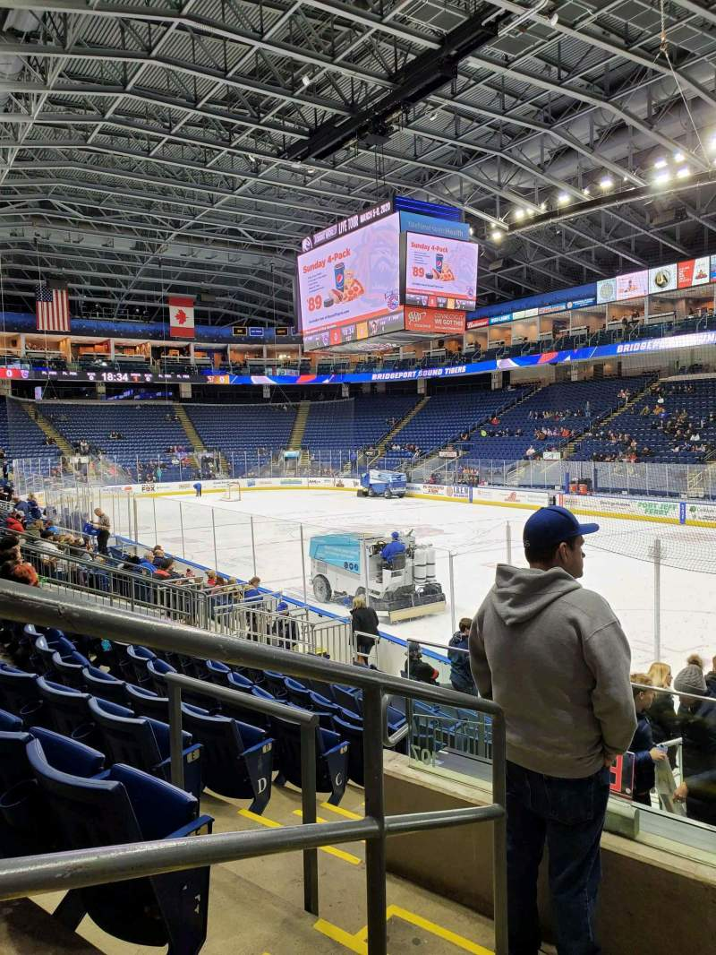Seating view for Webster Bank Arena Section 108 Row H Seat 21
