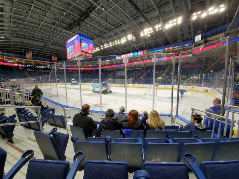 Seating view for Webster Bank Arena Section 108 Row A Seat 13