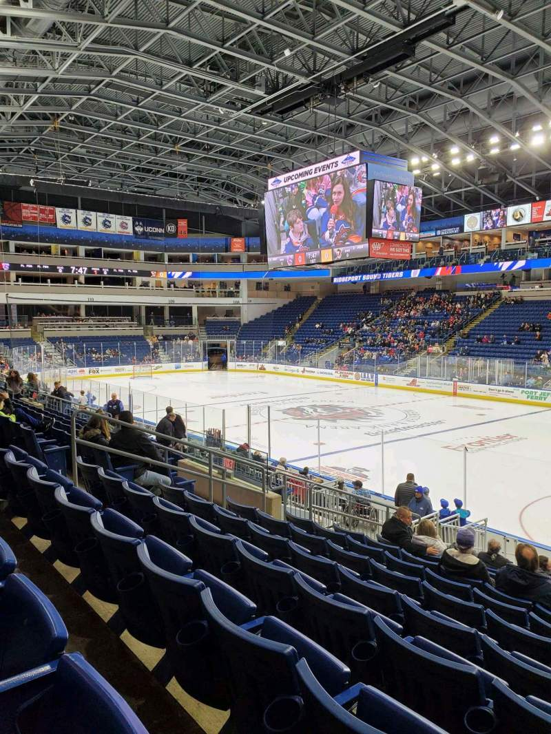 Seating view for Webster Bank Arena Section 117 Row L Seat 9