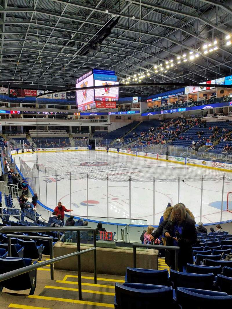 Seating view for Webster Bank Arena Section 119 Row K Seat 19
