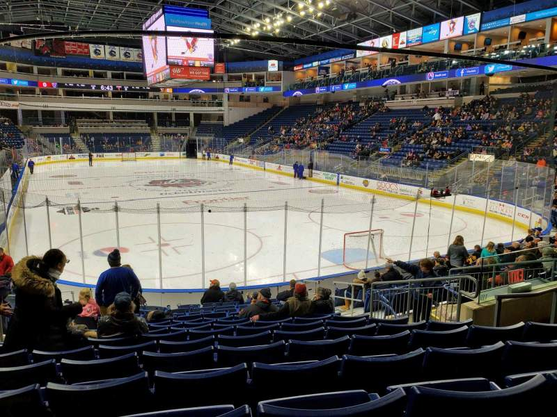 Seating view for Webster Bank Arena Section 119 Row K Seat 10
