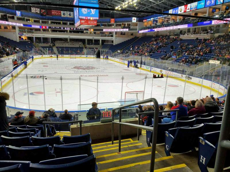 Seating view for Webster Bank Arena Section 119 Row K Seat 1