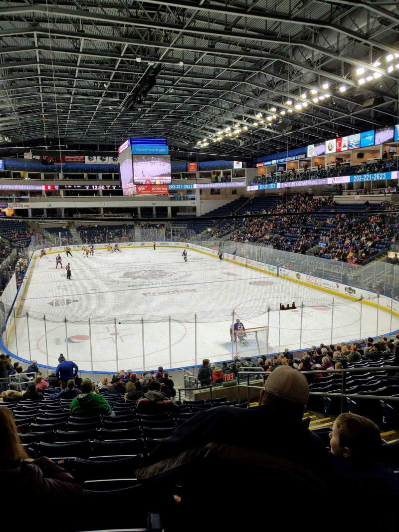 Seating view for Webster Bank Arena Section 119 Row S Seat 5