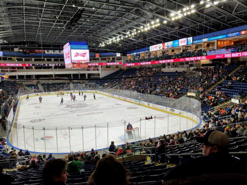 Seating view for Webster Bank Arena Section 119 Row S Seat 7