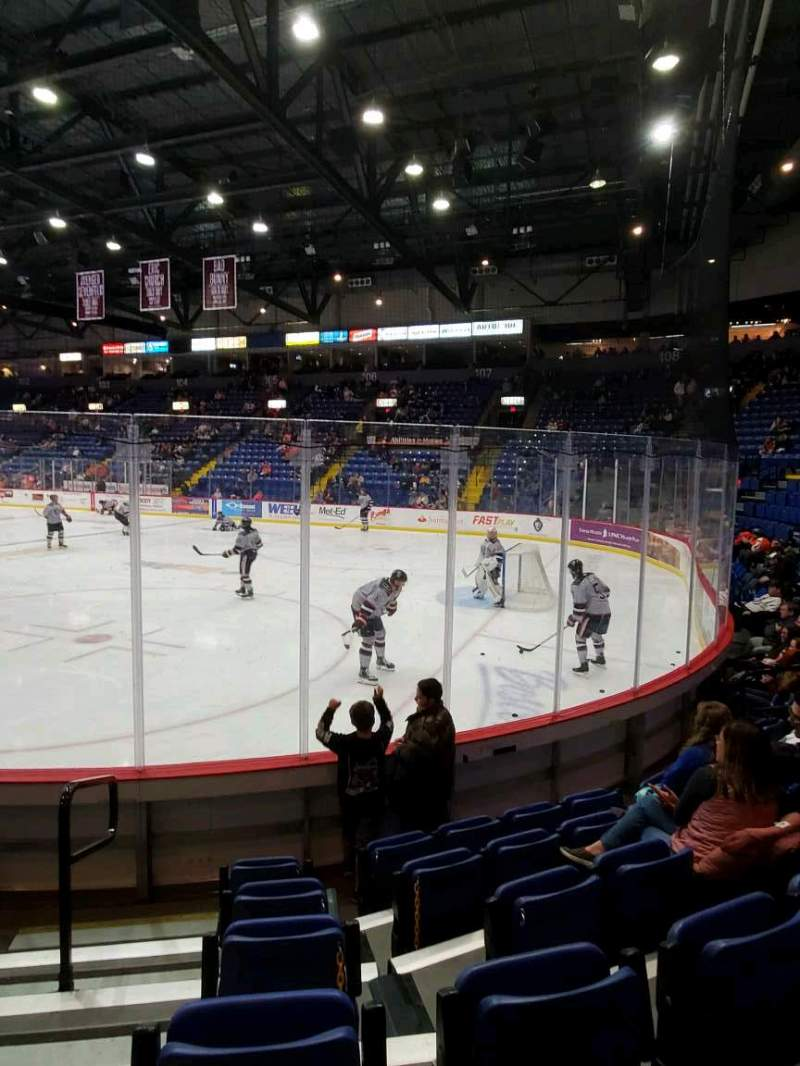 Seating view for Santander Arena Section 113 Row F Seat 9
