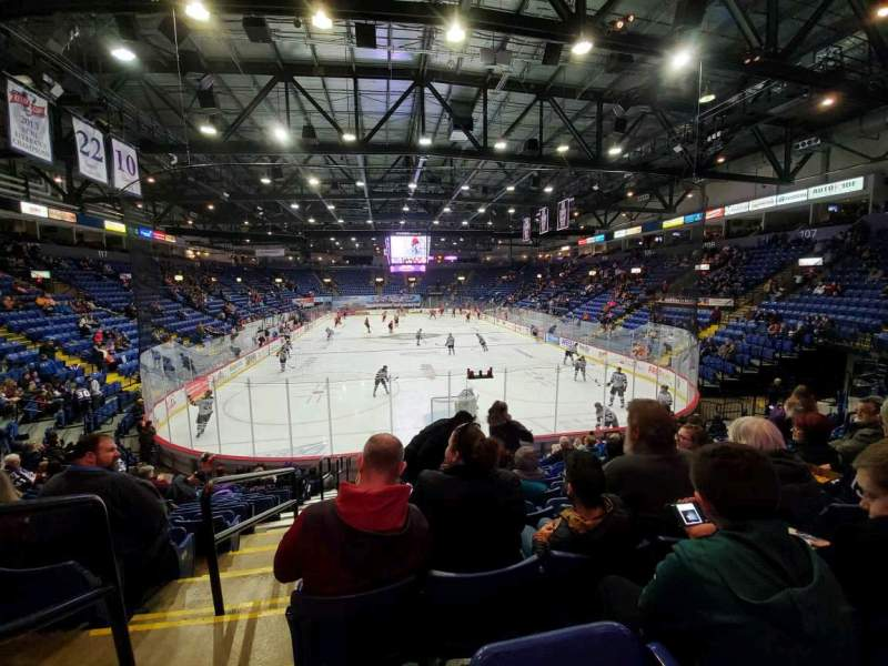 Seating view for Santander Arena Section 111 Row N Seat 13