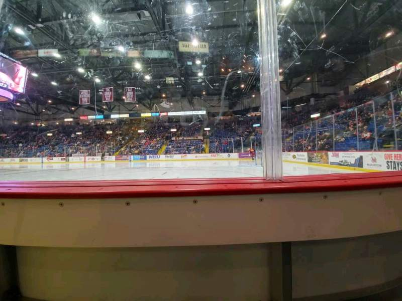 Seating view for Santander Arena Section 114 Row A Seat 6