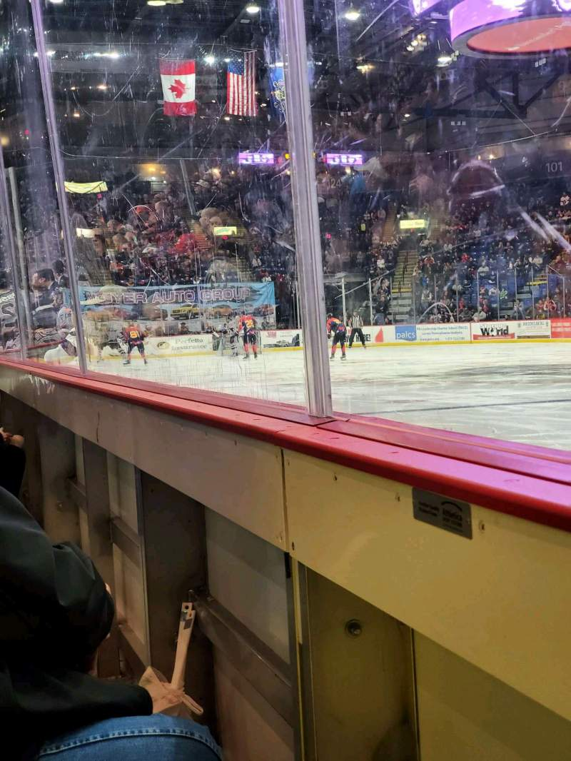 Seating view for Santander Arena Section 114 Row A Seat 7