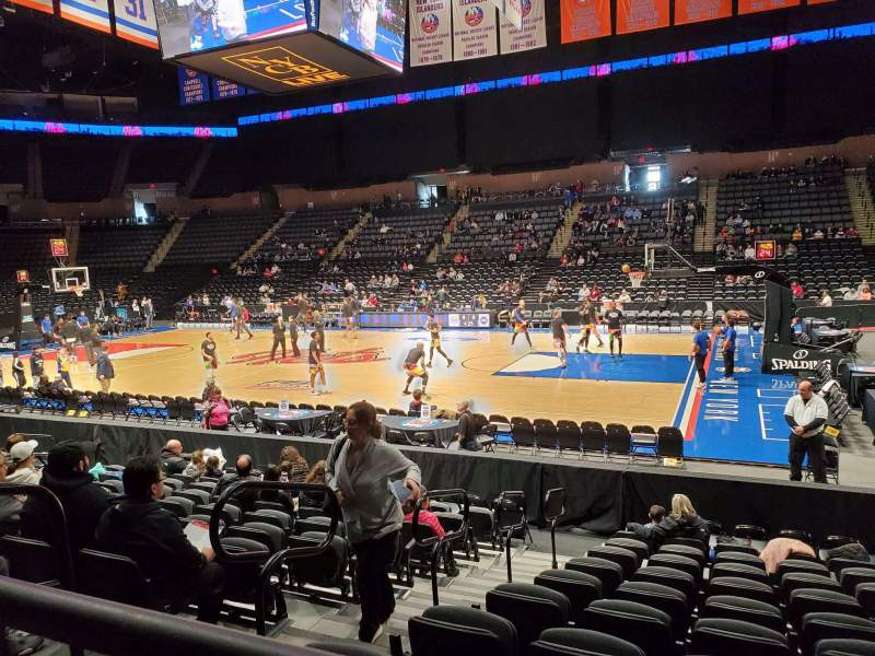 Seating view for Nassau Veterans Memorial Coliseum Section 101 Row 1 Seat 12