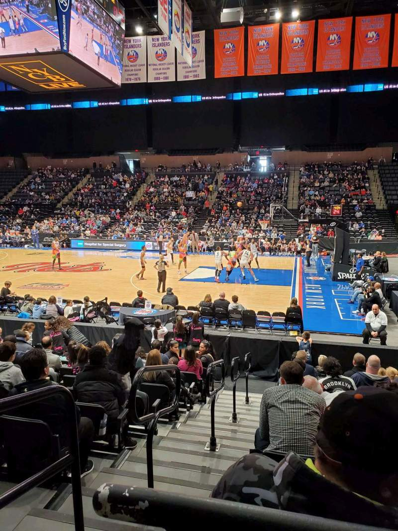 Seating view for Nassau Veterans Memorial Coliseum Section 101 Row 1 Seat 14