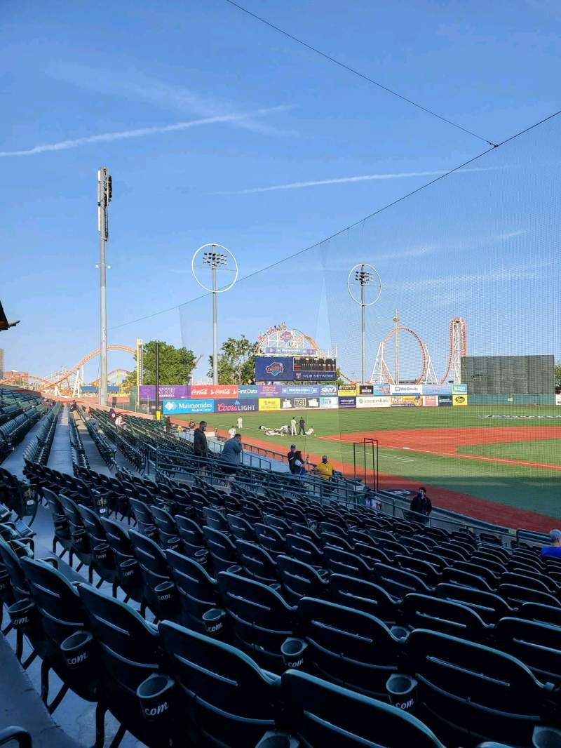 Seating view for Maimonides Park Section 5 Row Q Seat 2