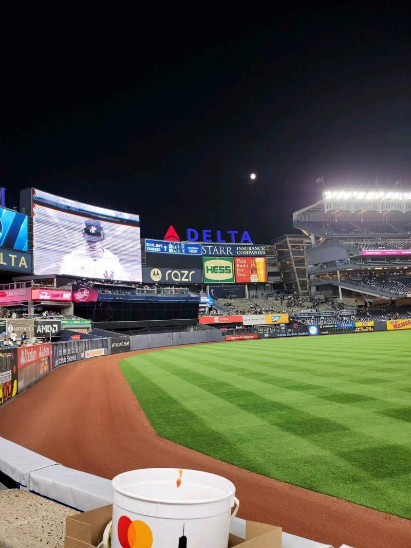 Seating view for Yankee Stadium Section 132 Row 1 Seat 15