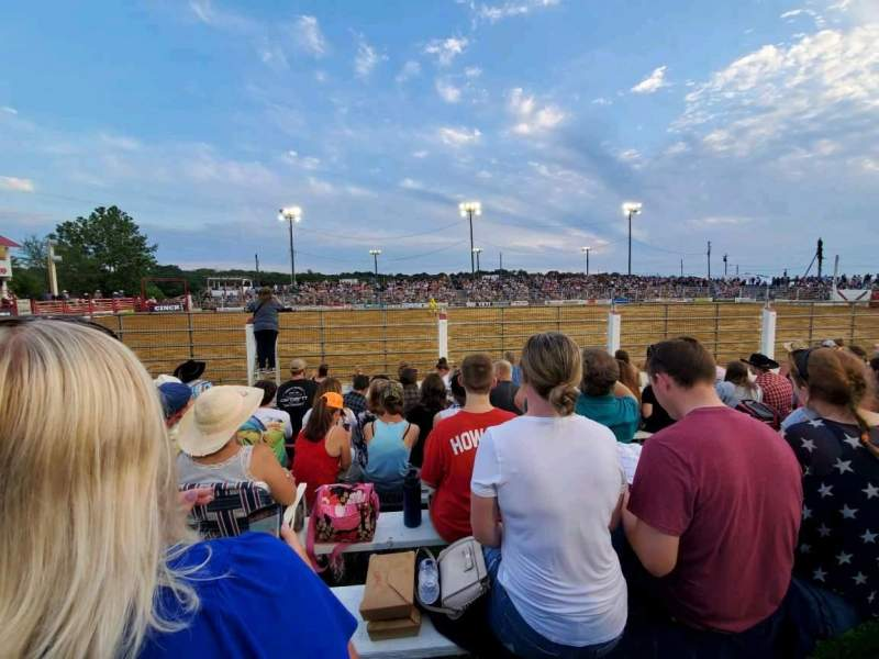 Seating view for Cowtown Rodeo Section General Admission Row 9 Seat North Bleachers