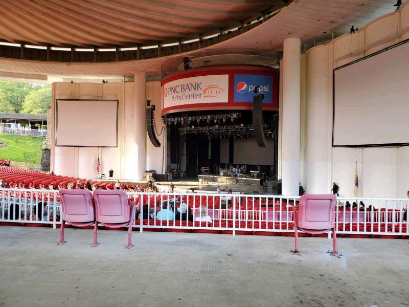 Seating view for PNC Bank Arts Center Section 301 Row A Seat 36