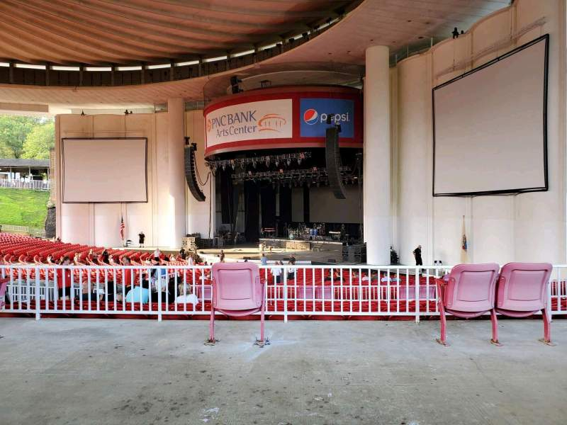 Seating view for PNC Bank Arts Center Section 301 Row A Seat 44