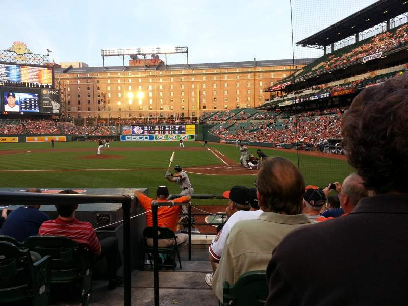 Seating view for Oriole Park at Camden Yards Section 46 Row 8 Seat 6