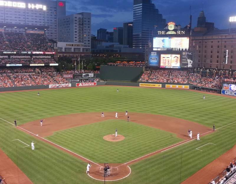 Seating view for Oriole Park at Camden Yards Section 336 Row 2 Seat 1