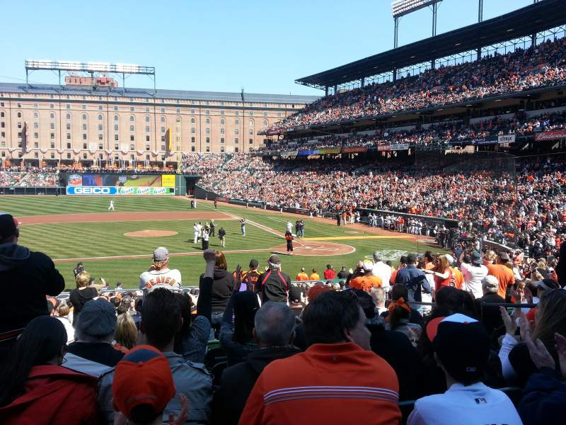 Seating view for Oriole Park at Camden Yards Section 50 Row 23
