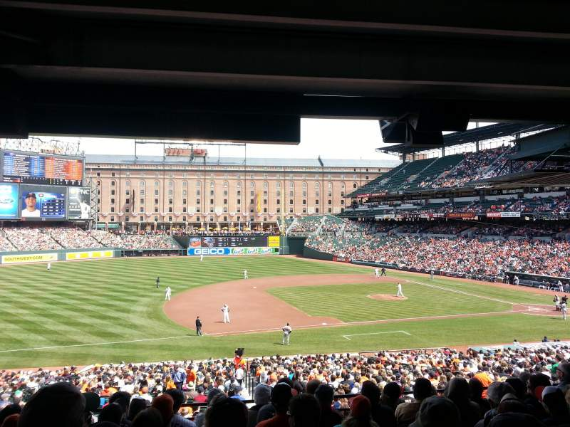 Seating view for Oriole Park at Camden Yards Section 55 Row 8 Seat 17