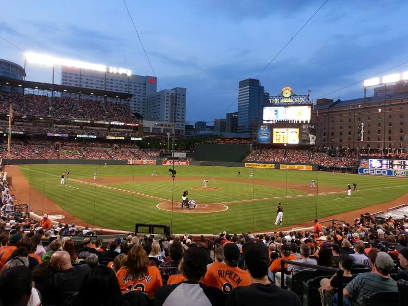 Oriole Park At Camden Yards Section 36 Row 25 Seat 1 Baltimore Orioles Vs Tampa Bay Rays